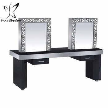 Kingshadow 0092l Stainless Steel Mirror Station For Sale Makeup