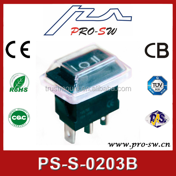 kcd1 3 pin on off on wateproof rocker switch 12a 250v