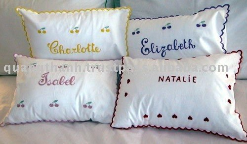 Hand Embroidered Baby Pillowcase – A Kid Did This!