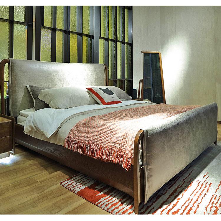 Última diseños cama doble muebles de dormitorio moderno diseño-Camas ...