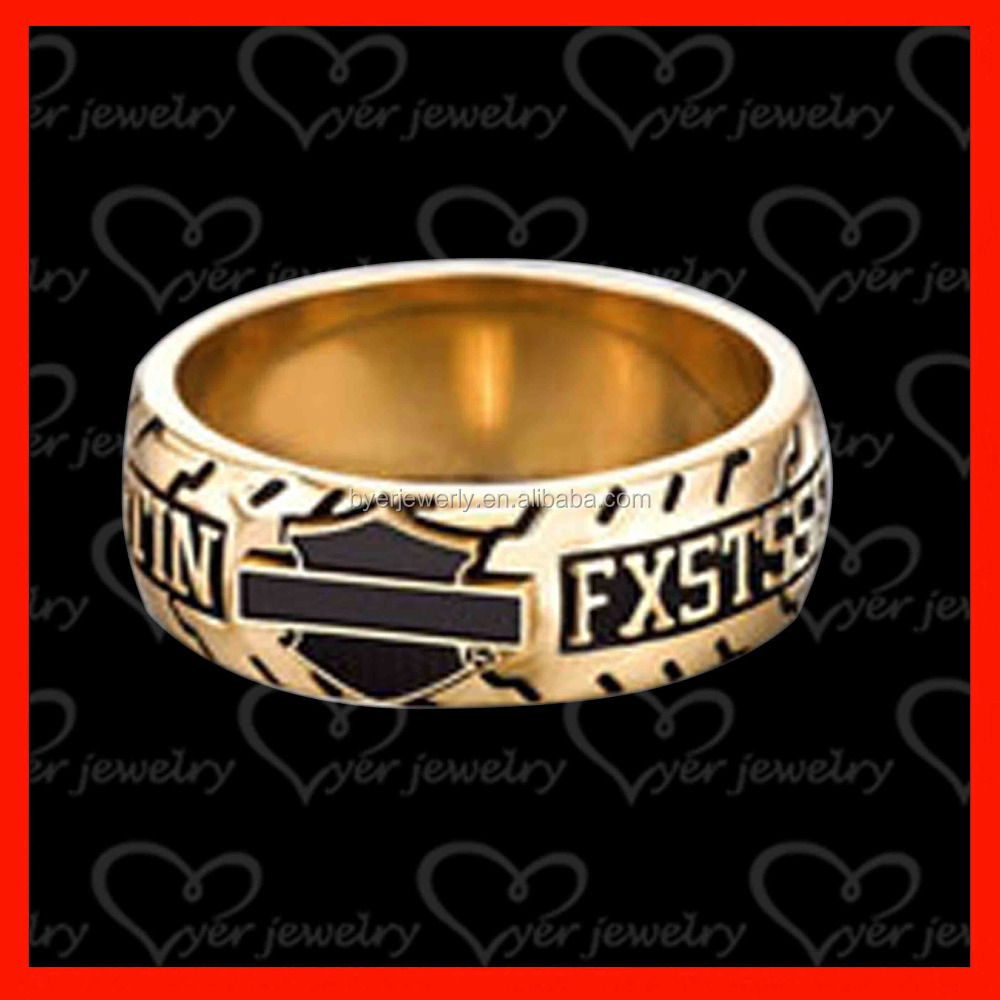 Gold plated band championship ring cheap with NAME, team name change