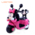 Cartoon three wheel pink riding toy motorized tricycle electric battery powered toddler motorcycle for girls