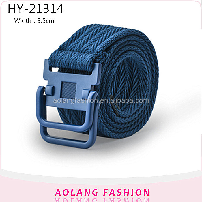 Colorful Canvas Belt/Webbing Belt/Fabric Belt with plastic buckle