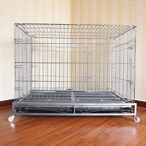 heavy duty folding metal extra large steel dog crate dog cages