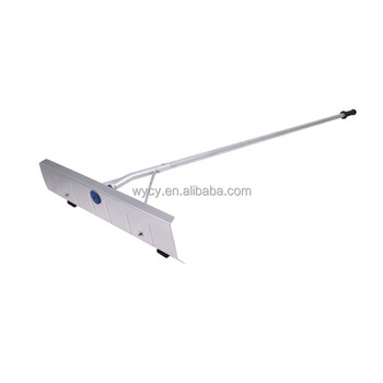 Telescopic Push Snow Shovel Roof Snow Rake With Wheels