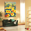 Hot sale handmade beautiful little yellow flower interior wall flower canvas painting