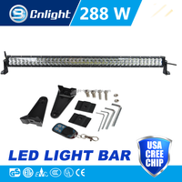 Super slim waterproof led bar 50 inch 288w 4x4 offroad 12 volt led light bar
