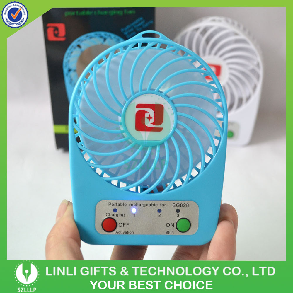 Small Portable Charging Fan, New Design Desk Rechargeable Small Fan