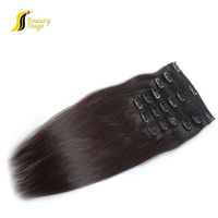 Large Stock unprocessed pu skin weft clip in hair extension,60ash blond hair weft 200g, 60ash blond hair weft