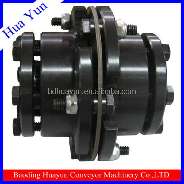 Gear motor coupling with plastic spider for hydraulic conveyor