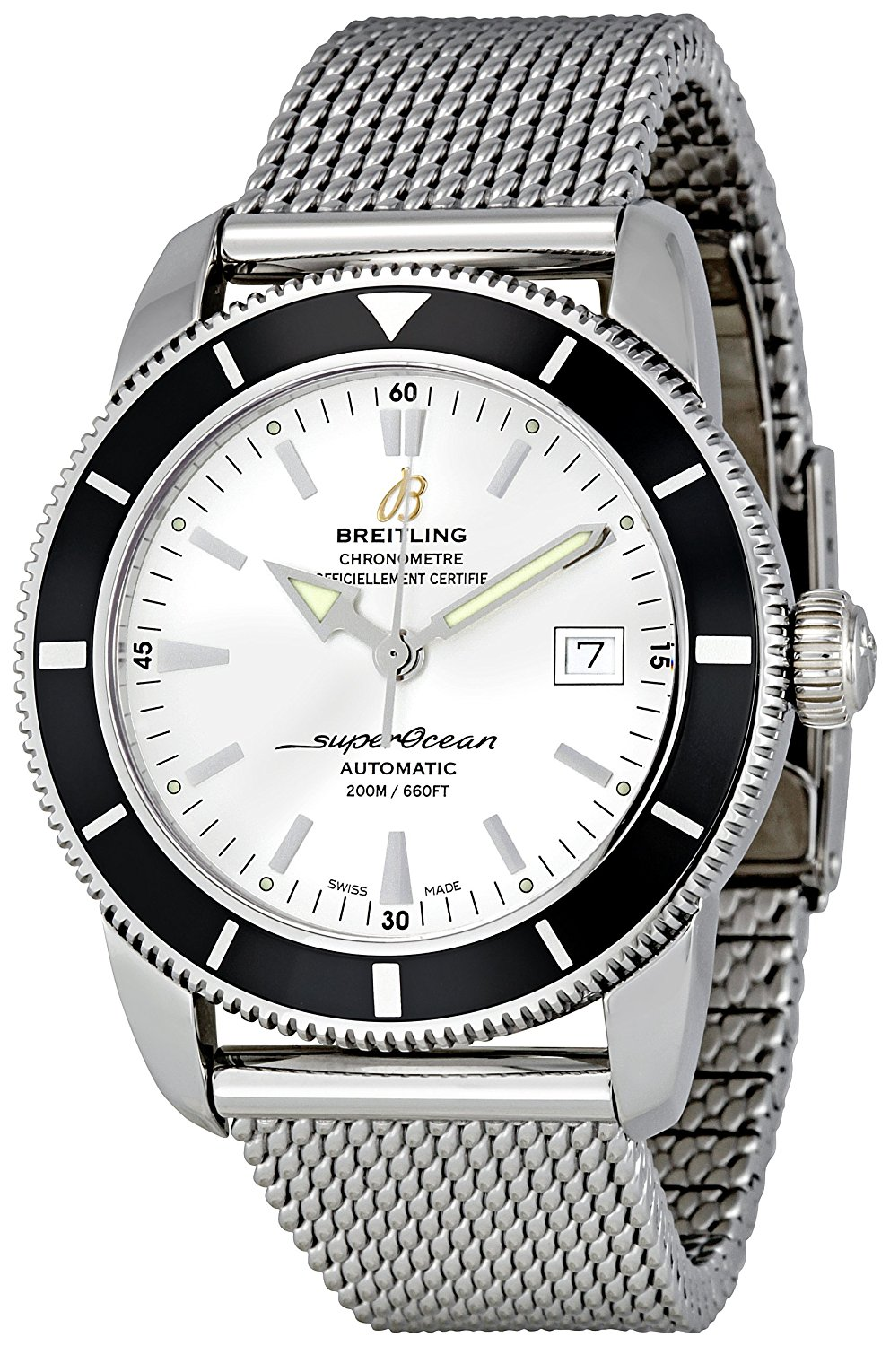 Breitling Men's A1732124/G717SS Silver Dial Superocean Heritage 42 Watch