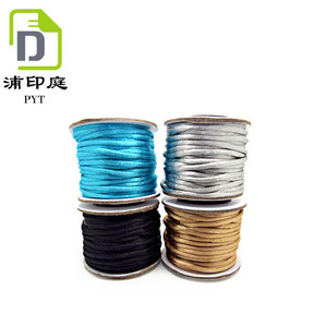 Wholesale Multi-colors Satin Silk Cord Rope Chinese Knot Beading Cord