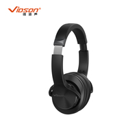 wholesale brand silent disco stereo headphone