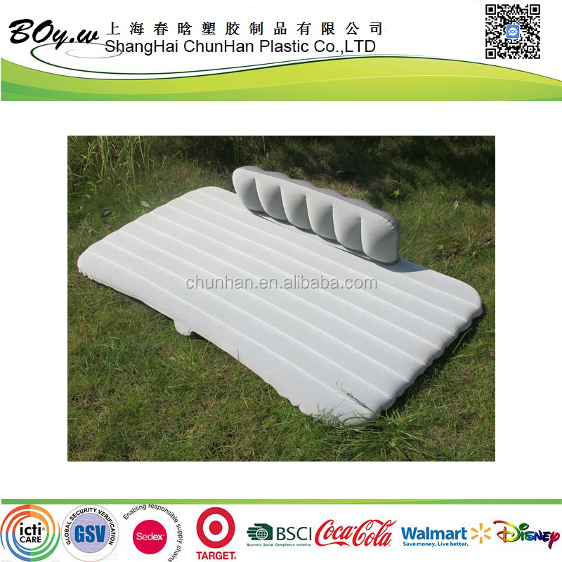 2016 popular mobile airbed pvc flocking back seat inflatable car mettress