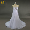 AUW2303 Sweetheart Crystal Beads Organza Plus Size White Wedding Dress Mermaid