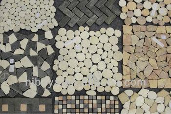 Mattonelle di mosaico di marmo ciottoli di fiume buy piastrella