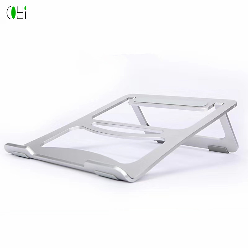 Aluminum alloy metal foldable good <strong>laptop</strong> notebook cooler <strong>cooling</strong> pad stand without <strong>fan</strong>