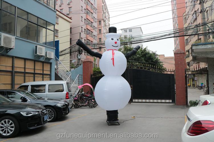 โรงงานที่กำหนดเองคริสต์มาส Snowman skydancer Inflatable Fly guys เต้นรำ Air Man สำหรับโฆษณา