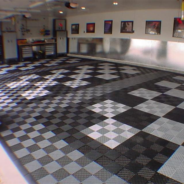 Interlocking Plastic Garage Floor Tiles