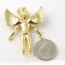 OEM Service 24k Gold Necklace,Angel Wings 925 Sterling Silver Necklace