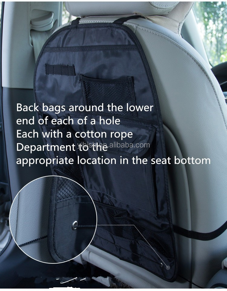 car seat back organizer type and polyester material car. Black Bedroom Furniture Sets. Home Design Ideas