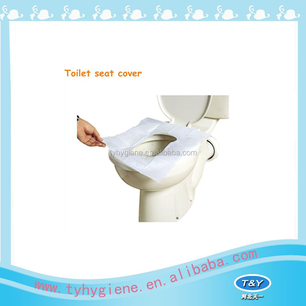 BIODEGRADABLE FLUSHABLE DISPOSABLE PAPER WC TOILET SEAT COVERS