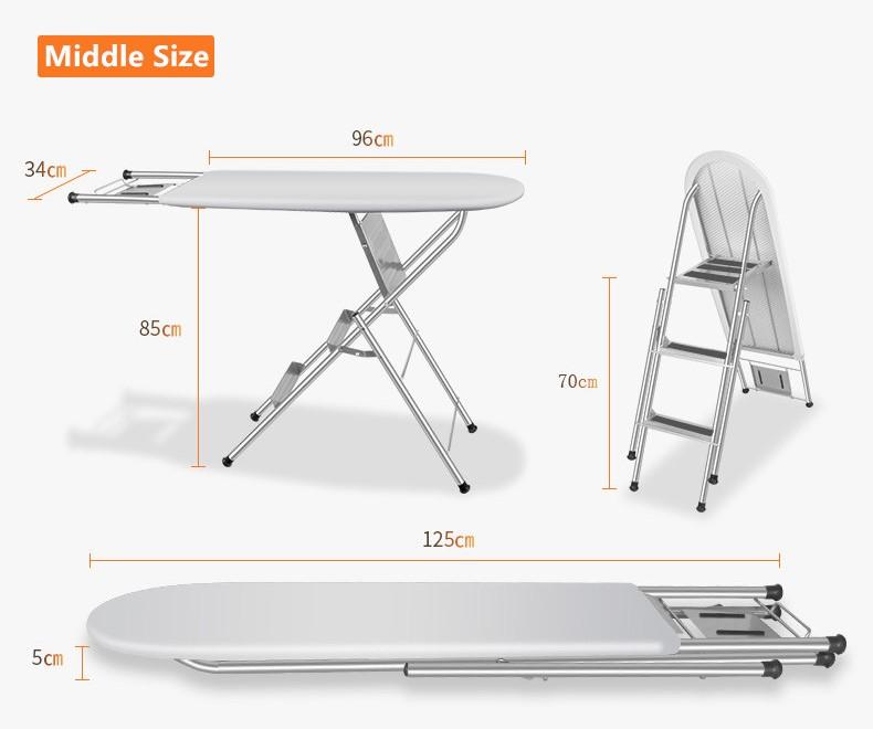IB-6DS ütü masası örtüsü üç portatif merdiven katlanır masa giyim ütüler merdiven