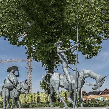 Famous Design Life Size Bronze Knight Statue Don Quixote Sculpture