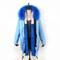 fur hood down oversized fur trim parka for women