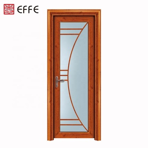 waterproof fiberglass single aluminum frosted glass bathroom door