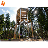 Customized tunnel adventure rope climbing stainless steel tube children slide toys kids outdoor playground equipment park