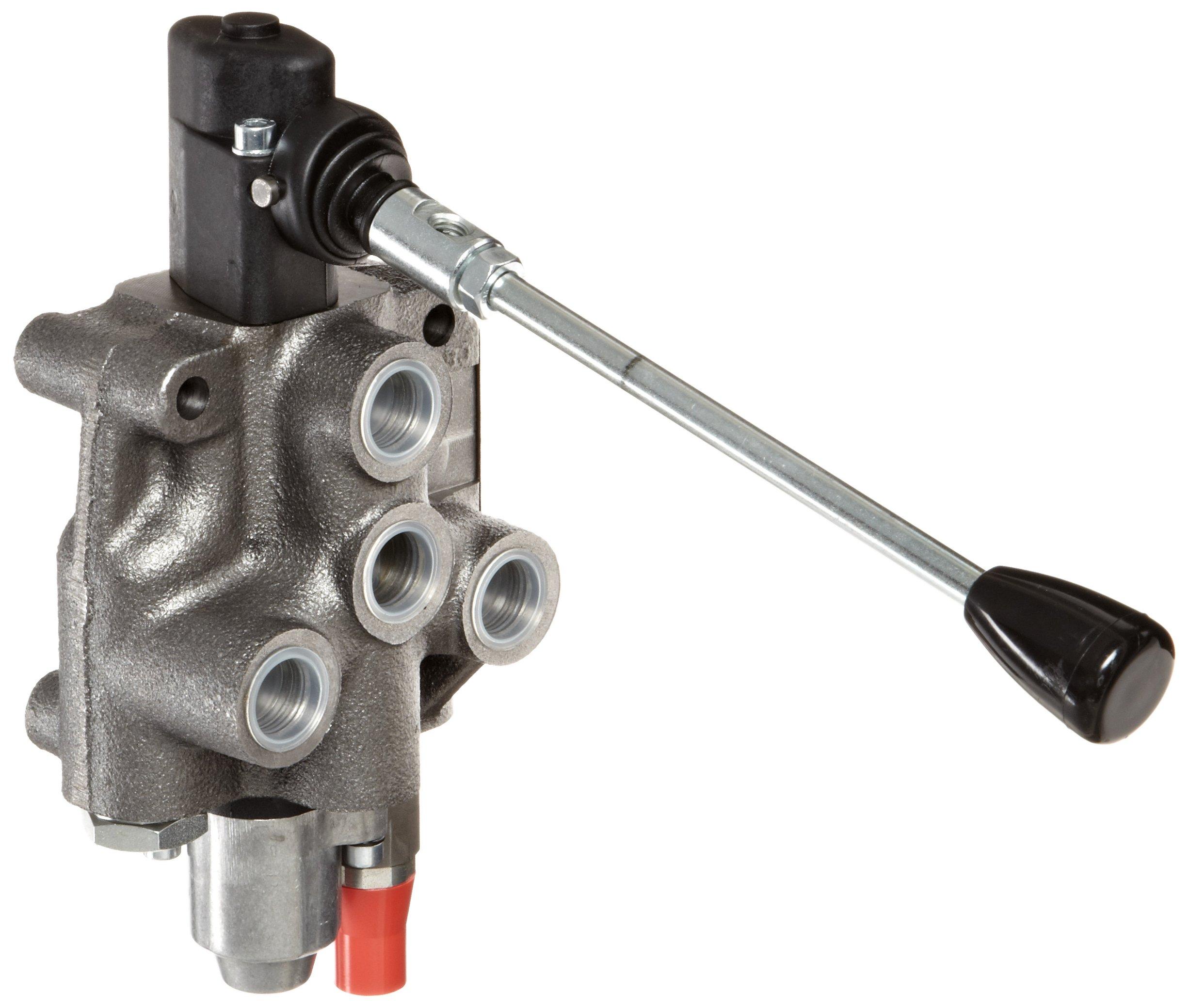 Prince WVS11C5C1 Directional Control Valve, Monoblock, Cast Iron, 1 Spool, 4 Ways, 3 Positions, Motor, 3 Position Detent, Lever Handle, 4000 psi, 14 gpm, 8 SAE