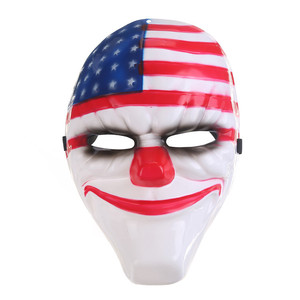Lipan-Clown Mask Halloween Full Face Horror Mask for Party Topic Game Series Plastic Old Head Jolly Mask