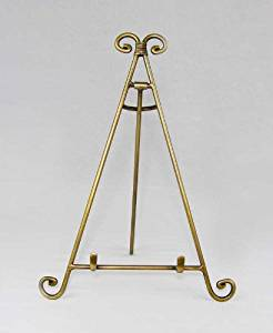 Easels, Decorative Easels from Easels by Amron, 13 Inches High (Antique Brass)