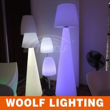 RGB Decration Waterproof Hotel Night Bar Garden Patio Floor Lamp Used  Rechargeable