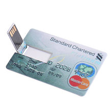 New promotional gift ideas 128MB-32GB USB 2.0 Flash Memory Stick Card Drive Waterproof Credit Card Model