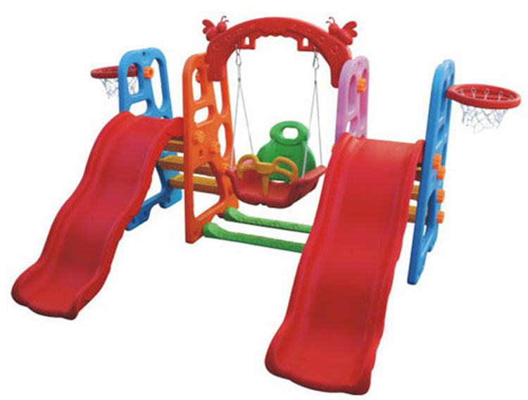 Kids playhouse elephant slide and swing set play house with slide