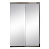 Automatic double glass sliding doors low price supply for India