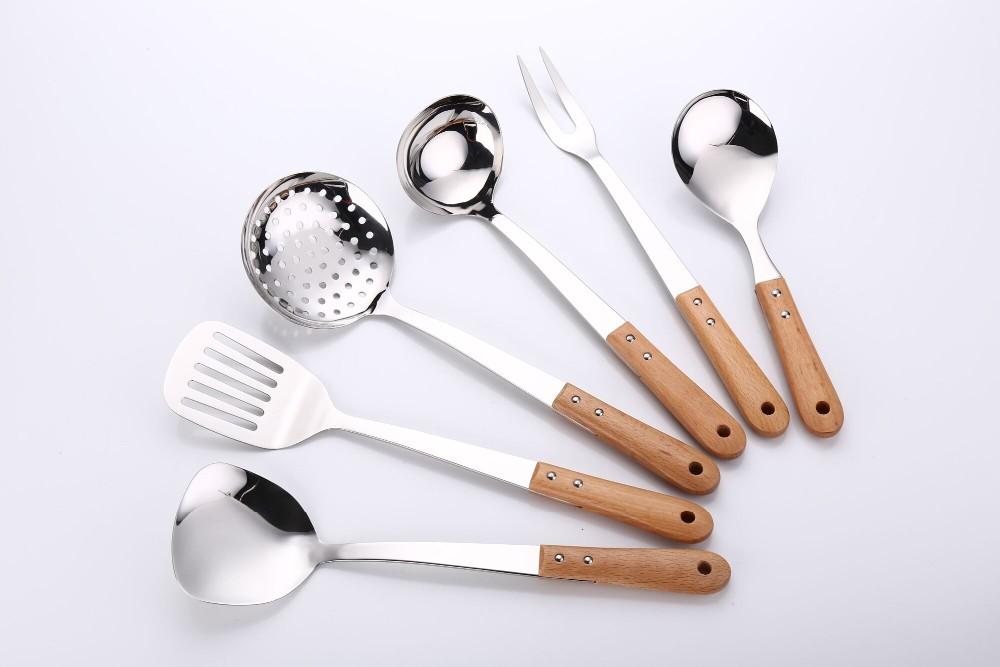 Kitchen Utensils Product ~ Kitchen stainless steel utensils with wooden handle buy