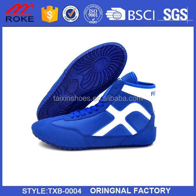High-Top Competition PU Upper Custom Wresting Shoes Boxing Shoes