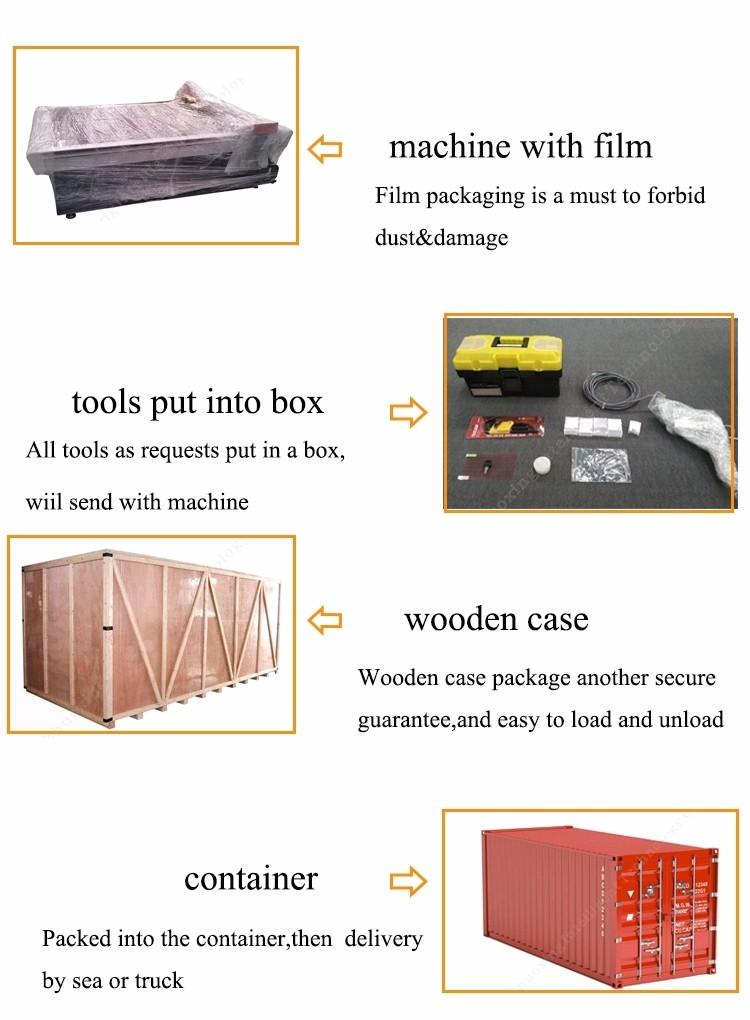 Cnc 1625 salınan bıçak kesme makinası ile yanmış kenar