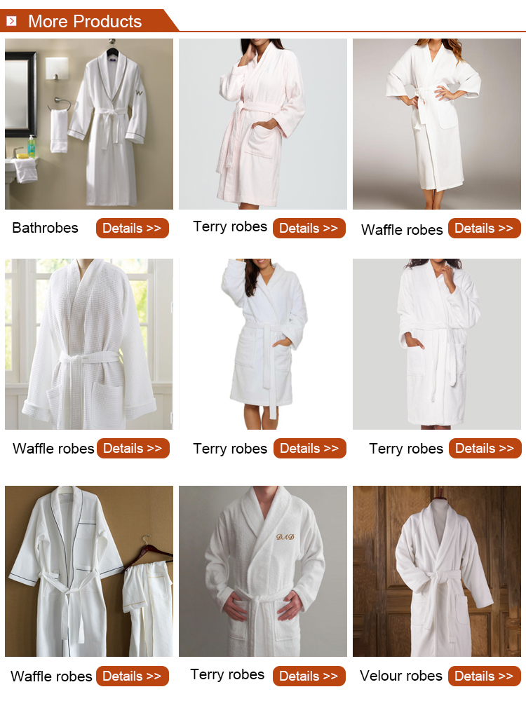 High quality star hotel velour cotton bath robe