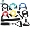 Top selling products in alibaba 5 Pieces soft resistance tube set, Excellent Resistance Tubing Exercise Band Set
