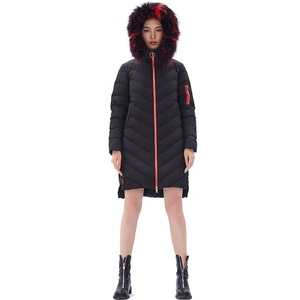 Winter Clothes warm Outwear Outfit Long Jacket Womens Down Coat With Fur Hood