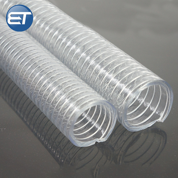 Crystal Flexible Pvc Steel Wire Hose Non Collapsible Hose
