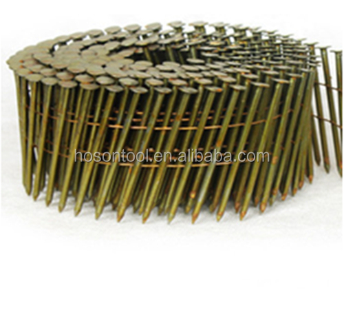Industrial grade pneumatic pallet screw nails,bulk pallet nails with flat head Direct Manufacturer
