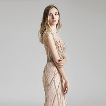 Настоящее фото длинное платье русалки знаменитости, роскошное красное платье из тюля с бисером и блестками, бальное платье макси, OL428(Китай)