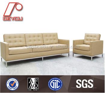 Florence Knoll Sofa Replica, Modern Leather Sofa Set, Leather Living Room  Furniture (SF
