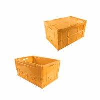 Colorful Foldable Folding Collapsible Storage Plastic Crate