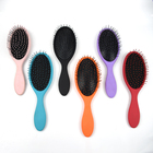 Colorful hair care brush massager soft cushion nylon bristles wet hair brush